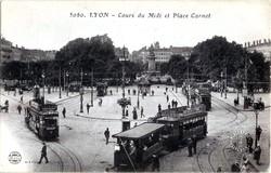 Lyon : Cours du Midi et Place Carnot