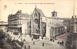 Lyon : Place des Cordeliers et Église Saint-Bonaventure