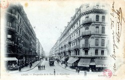 Lyon : Perspective de la Rue de la République