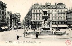 Lyon : La Fontaine et la Place des Jacobins