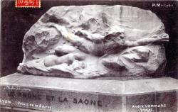 Lyon : Le Rhône et la Saône (Palais de la Bourse)
