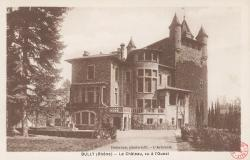 Bully (Rhône) : Le château, vu à l'Ouest