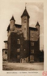 Bully (Rhône) : Le château, vue du donjon
