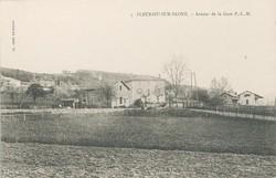 Fleurieu-sur-Saône (Rhône) : Autour de la gare P.-L.-M (Paris-Lyon-Marseille)