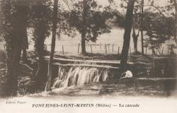 Fontaines-Saint-Martin (Rhône) : La cascade