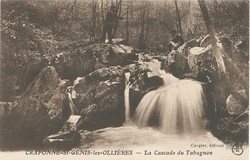 Craponne (Rhône) : La cascade du Tabagnon