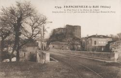 Francheville (Rhône) : Le Pont-Neuf et les ruines du Chater
