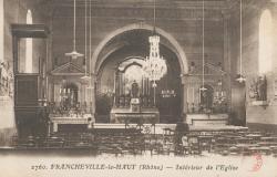 Francheville (Rhône) : Intérieur de l'église