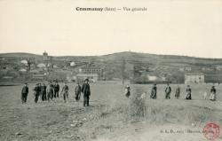 Communay (Isère) : Vue générale
