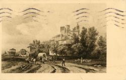 Châtillon (Rhône) : Vue du Château