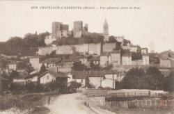 Châtillon (Rhône) : Vue générale prise du Pont
