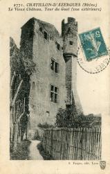 Châtillon (Rhône) : Le Vieux Château, Tour du Guet (vue extérieure)