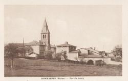 Dommartin (Rhône) : Vue du bourg