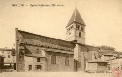 Beaujeu (Rhône) : Eglise Saint-Nicolas (XIIe siècle)