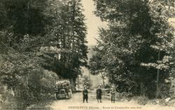 Chénelette (Rhône) : Route de Claveisolles sous bois