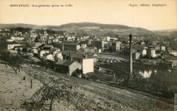Amplepuis (Rhône) : Vue générale (prise du Crêt)