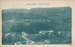 Cublize (Rhône) : Avenue de la gare