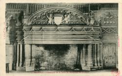 Bagnols (Rhône) : Cheminée de la Salle de réception du Château