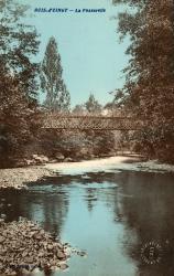 Bois d'Oingt (Rhône) : La passerelle
