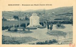 Bois d'Oingt (Rhône) : Monument aux morts (guerre 1914-18)
