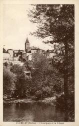 Chamelet (Rhône) : L'Azergues et le village
