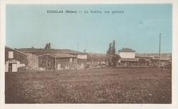 Echalas (Rhône) : La Rodière, vue générale