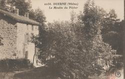 Duerne (Rhône) : Le moulin du Pêcher