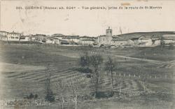 Duerne (Rhône) : alt. 824m - Vue générale, prise de la route de Saint-Martin