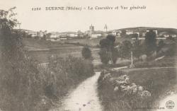 Duerne (Rhône) : La Coursière et vue générale