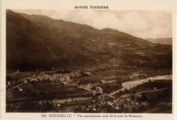 Savoie Tourisme : Aiguebelle ; Vue panoramique, prise de la route de Montsapey