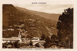 Savoie Tourisme : Environs d'Aiguebelle ; Randens ; Vue de la rive gauche de l'Arc