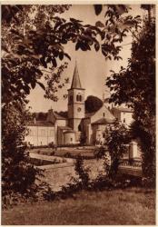 Abbaye N.-D. d'Aiguebelle : L'Abside (Clocher du XIXe s.)
