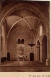 Abbaye N.-D. d'Aiguebelle : Bras gauche du Transept (Tribune de l'Infirmerie)