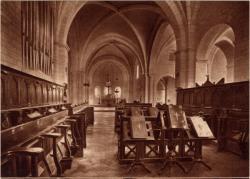 Abbaye N.-D. d'Aiguebelle : La Basilique ; Le Choeur des Moines