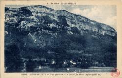 La Savoie Touristique : Aiguebelette ; Vue générale ; La Lac et le Mont Lépine (1350 m.)