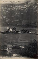 St-Alban-de-Montbel : Le Villon ; Lac d'Aiguebelette et le mont Lépine