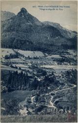 Route d'Abondance (Hte-Savoie) : Village et Aiguille du Fion