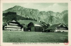Abondance(Hte-Savoie) - Altitude 927 mètres : Le Mont et le Massit du Mont Chaffé