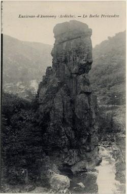 Environs d'Annonay (Ardèche) : La Roche Péréandre