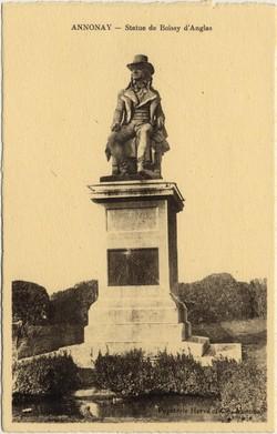 Annonay (Ardèche) : Statue de Boissy d'Anglas