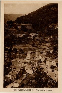 Albon d'Ardèche - Vue partielle et le pont
