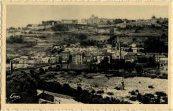 Aubenas (Ardèche) - Vue générale et Pont d'Aubenas