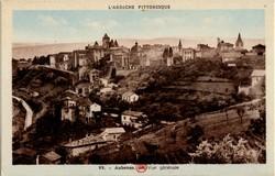 Aubenas (Ardèche) : Vue générale