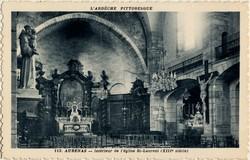 Aubenas (Ardèche) : Intérieur de l'église St-Laurent (XIIIe siècle)