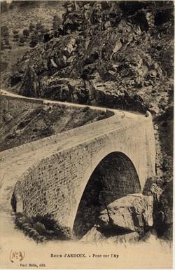 Route d'Ardoix (Ardèche) : Pont sur l'Ay