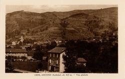 Arcens (Ardèche) alt. 625 m. - Vue générale
