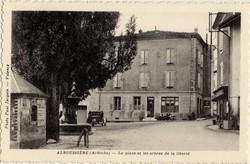Alboussière (Ardèche) - La place et les arbres de la liberté