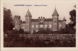 Alboussière (Ardèche) - Château de Crozat