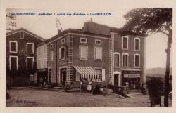 Alboussière (Ardèche) - Arrêt des Autobus - Café Boulon