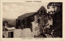 Aizac (alt. 642 m. Ardèche) : L'église XIe siècle
